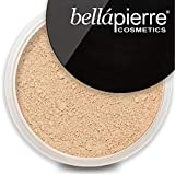 bellapierre Mineral Foundation SPF 15 Loose Finishing Powder | All-Natural Vegan, Cruelty Free Full Coverage Concealer | Hypoallergenic, Safe On All Skin Types | Oil-Talc Free 0.32oz Biscotti