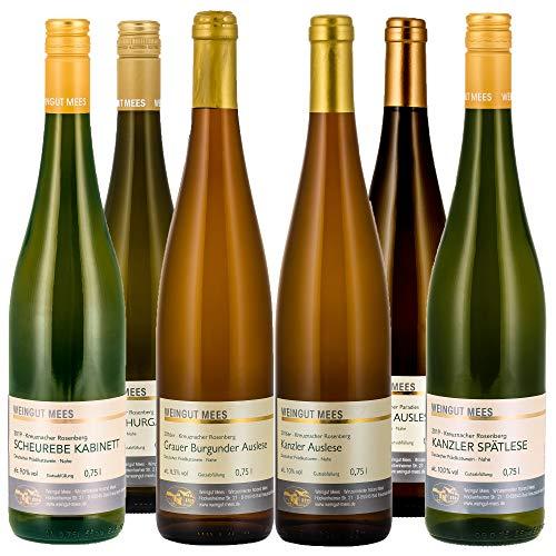 Weingut Mees PROBIERPAKET WEISSWEIN LIEBLICH EDELSÜSS SÜSS Weißwein Wein Deutschland Nahe Set (6 x 750 ml)