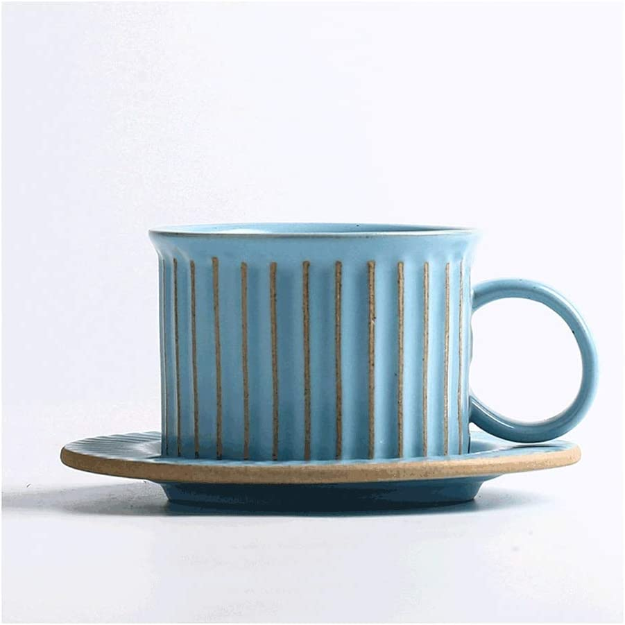 mugs Handmade Ceramic Coffee Cup Set Minimalist Style Be super New products, world's highest quality popular! welcome Saucer And