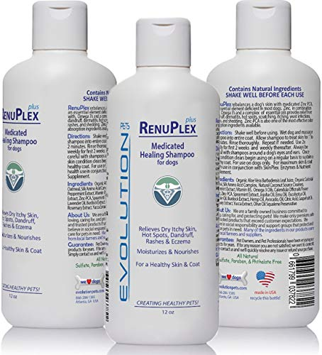 Evolution Pets Best Itchy Dog Shampoo. RenuPlex Plus Medicated Dog...