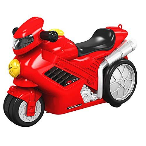 ColiCor 3 en 1 Multifuncional Ride On Maleta al aire libre Inercial Moto Niño Equipaje con Ruedas - Rojo