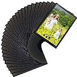 Sooyee 30 PACK Magnet Photo Frame Refrigerator,4X6 Magnetic Picture Holder, Magnetic Picture Frame Fridge(Black)