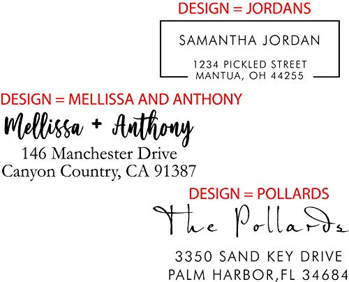 Personalized - Address Stamp - Customized Stamp - Self-Inking Return Address Mail 3 Lines Custom Address Stamper Wedding Invitation Stamp Photo #5