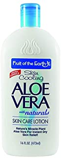 Fruit of the Earth Aloe Vera Skin Care Lotion 16 oz (2 Pack) Triple Action Formula