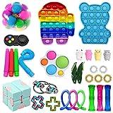 shenruifa - Juego de juguetes antiestrés, fidget toy pack barato, set de terapia sensorial con DNA Ballherramientas antiansiedad, juguetes de mano para niños y adultos