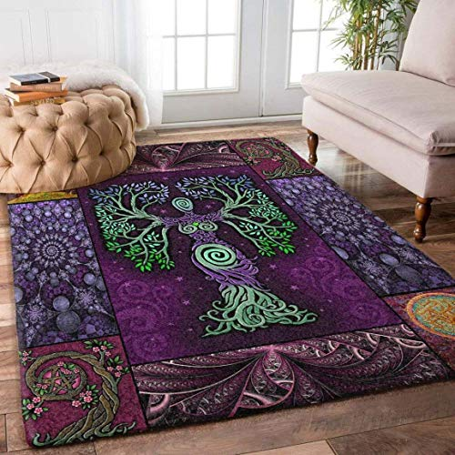Celtic Tree of Life Rug Home Decorative Special Design Washable Thin Anti-Skid Printed Area Rug (2x3, 3x5, 4x6, 5x8)