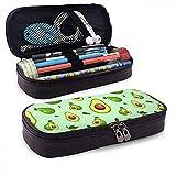 Patrón de aguacate Caja de lápices de cuero para estudiantes Titulares de bolsas de bolígrafos Papelería Organizador Bolsa