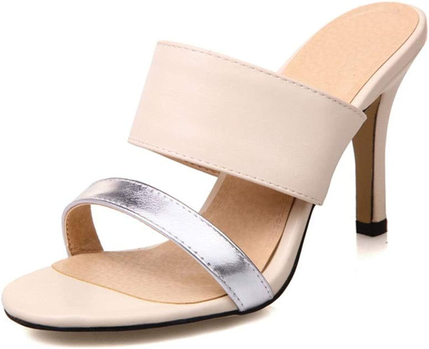 Ladies Fashion High Heels Open Toe Sandals Dinner Ball Wedding shoes (color   C, Size   36)