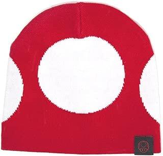 Nintendo Super Mario Bros - Red Mushroom Cuffless Beanie | One Size | Red/White