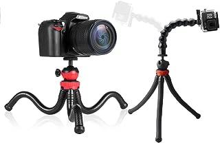 2 en 1 Soporte del tripode de superficie de mesa plegable portatil mini Soporte del tripode plegable empunadura de mano para GoPro 4//3+//3//2//1 DC DSLR SLR Camara y Smartphone R Rojo TOOGOO