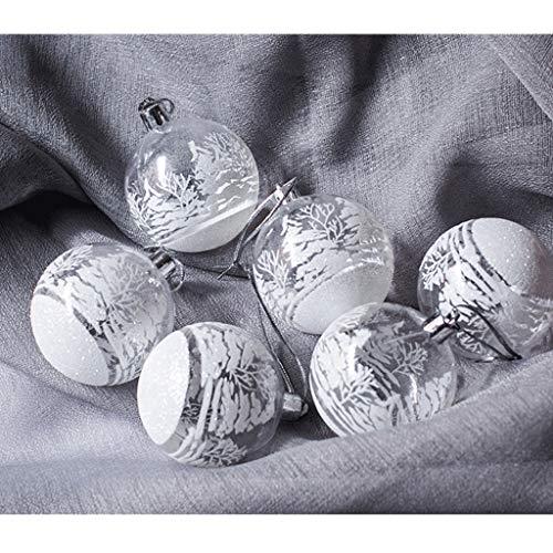 FeiliandaJJ 12Pcs Weihnachtskugeln Transparent Christbaumkugeln Weiss Schneeball Weihnachten Anhänger Kugeln Party Home Hochzeit Deko Ornamente für Weihnachtsbaum (Weiss)