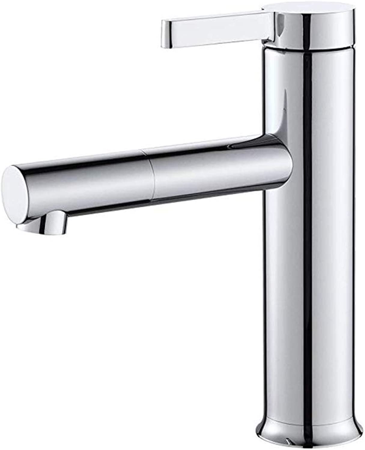 Basin Faucetbasin Taps Mordern Round Solid Brass Bathroom Sink Mixer Tap Single Lever Single Hole Faucet