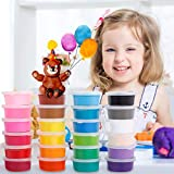 Migimi Springknete, Kinderknete Kindergeburtstag Knete Bunt Set Hüpfknete Kinder Flummimasse DIY Handgemachtes Lernen, Geburtstags Mitgebsel für Kinder - 24 Farben -