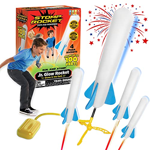 Stomp Rocket 806002 Junior Glow Paquete de repuesto de cohetes