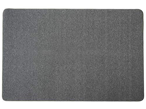 Kurzflor-Schlingen-Teppich Macao - Anthrazit, 140x200 cm, Hochwertige Schlingenware Gekettelt für Wohnzimmer und Kinderzimmer