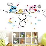 DIY Murales adhesivos y pegatinas de pared Papel pintado,Póster Dibujos,Owl Love Whiteboard Sticker AY9004 Etiqueta de la pared de alta calidad PVC transparente etiqueta de la pared removible