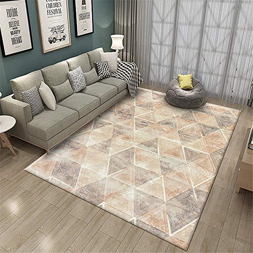 Kunsen alfombras Lisas alfombras para Comedor Alfombras geométricas en salón y Dormitorio Alfombra niña habitacion 80X160CM 2ft 7.5' X5ft 3'