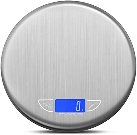 Kitchen Scales - Stainless Steel Scales, 4 Units Conversion, LED Night Vision Display, Kitchen Home Commercial Multi-Function Precision Compact Small Electronic Scale - 2 Range Optional (Size : 5kg)