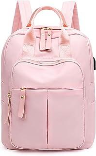 Wujianzzhobb حقيبة الظهر الرياضية ، المضادة للسرقة شحن USB حقيبة الظهر ، مقاومة للماء الرجال النساء متعددة الجيوب حقائب ال...