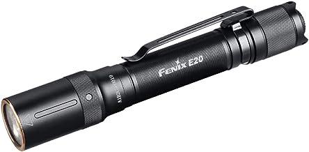 fenix Unisex Any Age E20 V2.0 AA Powered Torch, Black, 127mm (Length) x 16.8mm (Body) x 21mm (Head)