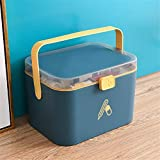 DOILE Gabinete de almacenamiento portátil para el hogar o al aire libre, caja de almacenamiento de material PP grueso, tres colores a elegir (L-azul)