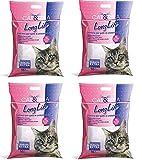 4 Sacchi da 16L Cat&Rina Long Life Lettiera per Gatti in Silicio Cristalli Lunga Durata Silice