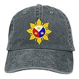 errterfte Men and Women Philippine Flag Logo Design Vintage Jeans Baseball Cap Asphalt Personalized Hat Comfortable Adjustable