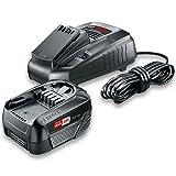 Bosch Akku und Ladegerät Starter Set 18V (18 Volt System, 4.0Ah Batterie, Ladegerät, im Karton)