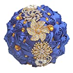 fiwisora-brooch-bouquet-9-bride-bridesmaid-satin-rose-wedding-bouquet-wgold-crystal-brooches-custom-made-artificial-floral-bouquet-centerpiece-arrangement-royal-blue-bouquet