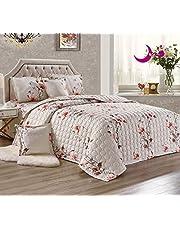 تصميم مزدوج الجوانب، مجموعة لحاف الصيف، نمط الزهور، طقم سرير 4/6 قطع