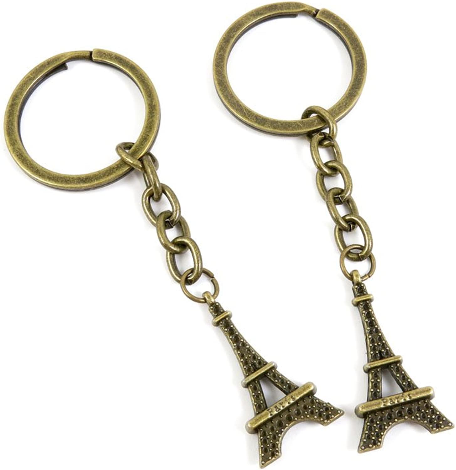 80 PCS Keyring Car Door Key Ring Tag Chain Keychain Wholesale Suppliers Charms Handmade D7GB4 Paris Eiffel Tower