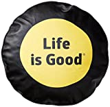 Elastic cord and slit in gusset for flexibility For correct size tire cover, measure the Diameter of your tire The Life is good company donates 10% of all sales to kids in need Weatherproof PVS Vinyl Woven lined interior with elastic cord and slit in...