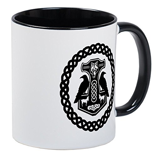 CafePress Thor's Hammer In Celtic Knot Circle Mugs Unique Coffee Mug, Coffee Cup