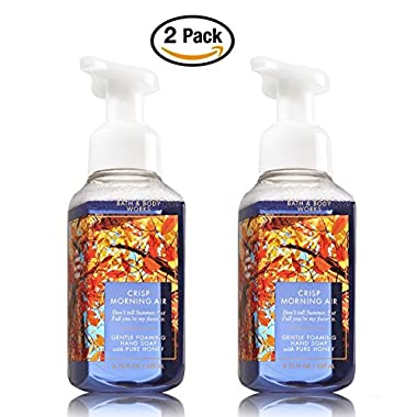 Bath & Body Works Crisp Morning Hand Soap - Pack of 2 Crisp Morning Air Gentle Foaming Hand Soaps