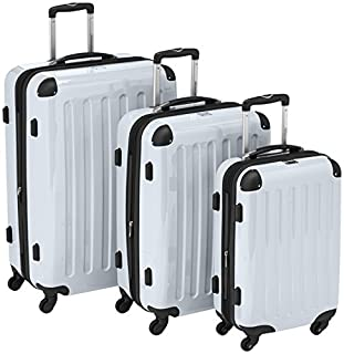 HAUPTSTADTKOFFER - Alex- Set of 3 Hard-side Luggages Trolley Suitces Expandable, (S, M & L), white (B00518KPTM) | Amazon price tracker / tracking, Amazon price history charts, Amazon price watches, Amazon price drop alerts