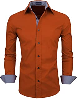 Zombom Men's Classic Fit Casual Shirts