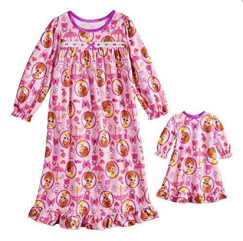 Disney's Fancy Nancy Granny Nightgown & Matching Doll Nightgown - Girls (3T) Pink