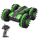 Joyjam Coche teledirigido Anfibio, Stunt Car Impermeable Anfibios con 2 Lados de conducción en Agua y Tierra Coche radiocontrol Electric Juguetes para...