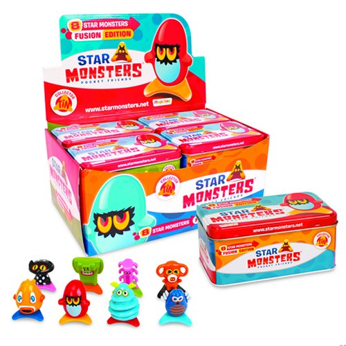 Magic Box Star Monsters, Lata con 8 Figuras P00773