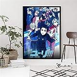ganlanshu Carteles de Pintura de Lienzo de Personajes de Anime y Pinturas Decorativas murales Impresas, utilizadas en la Sala de Estar Familiar,Pintura sin marco-50X75cm