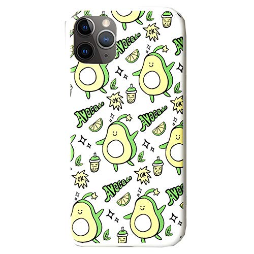 Anewsex Cute Cartoon Phone Case for iPhone 12 11 Pro Soft Silicone Avocado Phone Back Cover White Avocado for 12mini