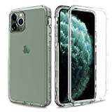 AMENQ Clear Case for iPhone 11 Pro Max, Heavy Duty Crystal Clear Hard Protective Case with Shockprook TPU Bumer and Rugged PC Back Armor Cover for iPhone 6.5 2019 (Crystal Clear)