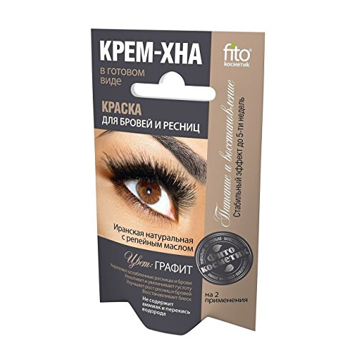 Fito Natural Dye Eyebrows & Eyelashes Henna Cream Graphite 2x2ml (Pack of 2)
