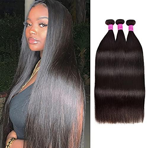 Peluca de 10a, pelo recto, pelo real recto, color natural Remy Virgin Human Hair, muy adecuado para bodas, fiestas, ceremonias de graduación 10 pulgadas-28 pulgadas 16inch