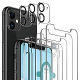 LK Compatible con iPhone 11 Protector de Pantalla,3 Pack Cristal Templado y 2 Pack Protector de Lente de cámara, Doble protección, Kit de Instalación Incluido