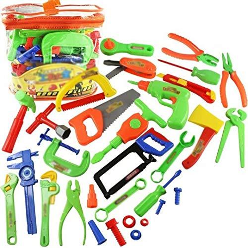 DDD123 Juguete de herramientas para niños de 32 piezas,Juguetes de herramientas de reparación,Juego de juguetes de construcción de juego de simulación,Juego de herramientas de construcción