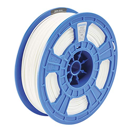 Dremel DigiLab PLA-WHI-01 3D Printer Filament, 1.75 mm Diameter, 0.75 kg Spool Weight, Color White, RFID Enabled, New Formula and 50 Percent More per Spool