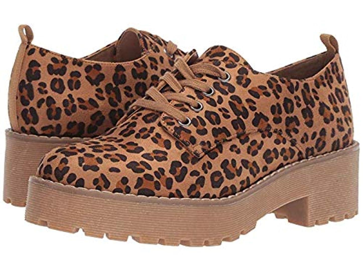 体距離オプショナルレディースレースアップ?オックスフォード?靴 Melodies Tan Cheetah (23.5cm) B - Medium [並行輸入品]