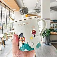 コーヒーティーカップ朝食ミルクマグセラミックカップかわいい大型オートミールマグ400MLグレー