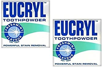 Eucryl 2 X 50G Smokers Freshmint Toothpowder by Eucryl